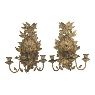 Vintage Louis XV Style Wall Sconces - a Pair For Sale