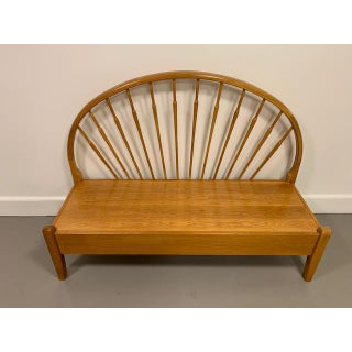 Vintage Mid-Century Teak Peacock Bench Preview