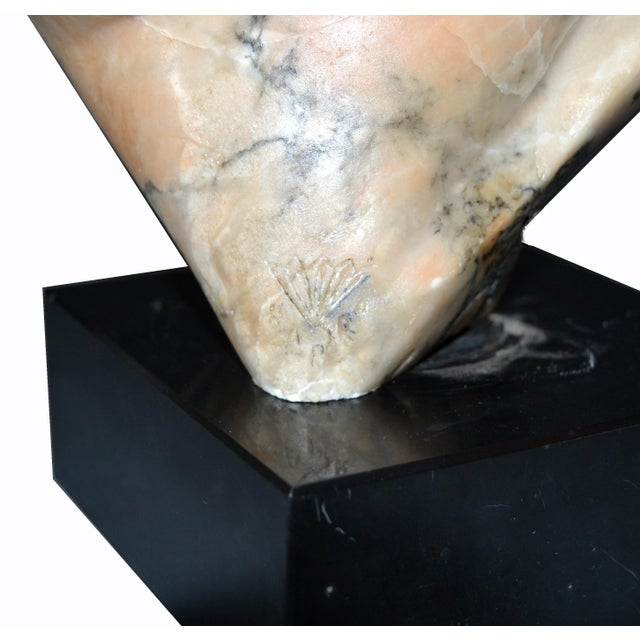 Signed Mid-Century Modern Abstract Marble Sculpture by Shapiro For Sale - Image 12 of 13