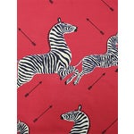 Sample, Scalamandre Zebras, Masai Red Fabric