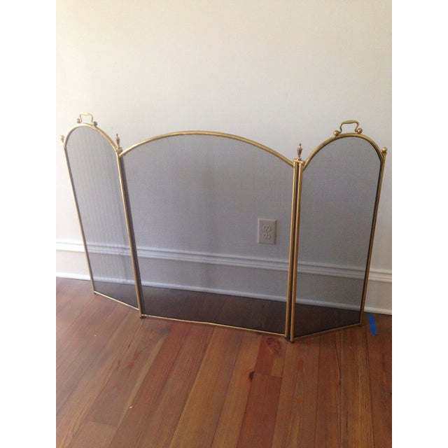 Vintage 1970's Brass Fireplace Screen - Image 2 of 3