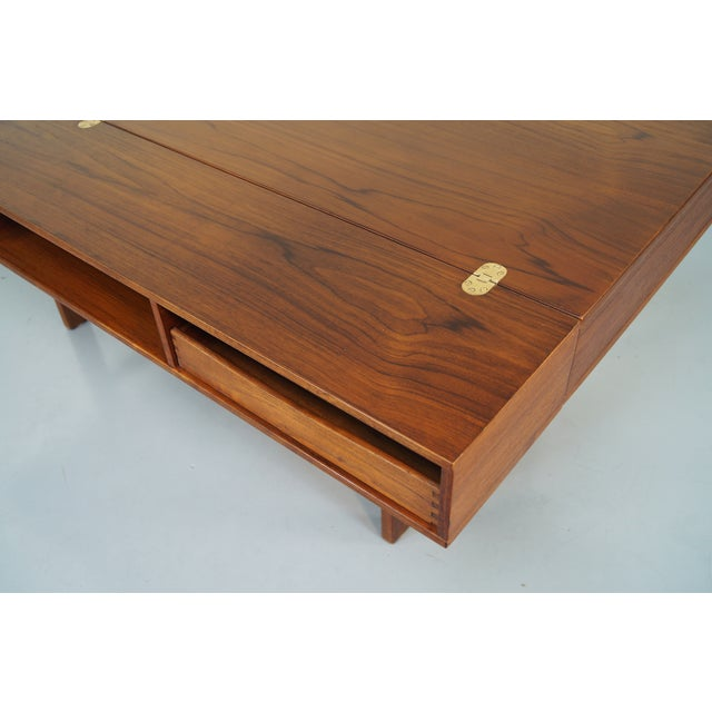 Jens Quistgaard Teak Flip -Top Desk - Image 6 of 7