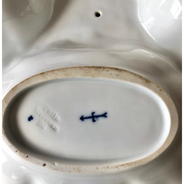 Early 20th Century Antique Porcelain Triple Server Tray After Meissen For Sale - Image 5 of 11