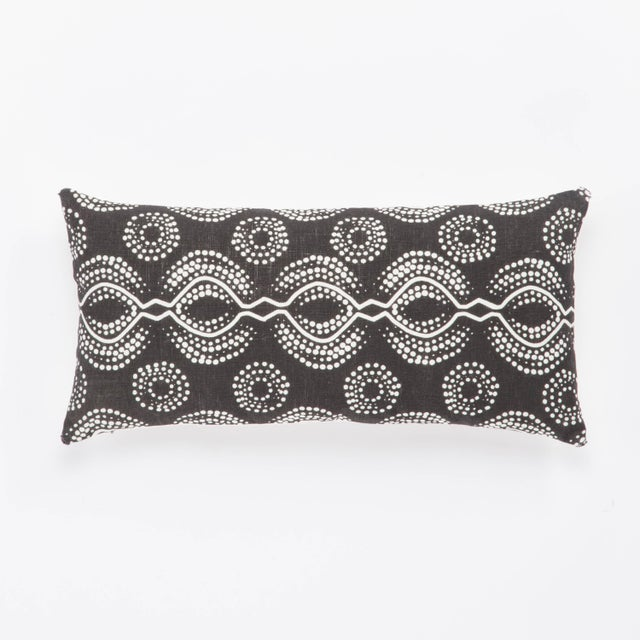 Contemporary Nikki Chu by Jaipur Living Satin Black/ White Graphic Down Throw Pillow For Sale - Image 3 of 3