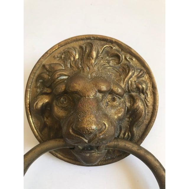 Antique Lion Head Door Knocker - Image 2 of 8