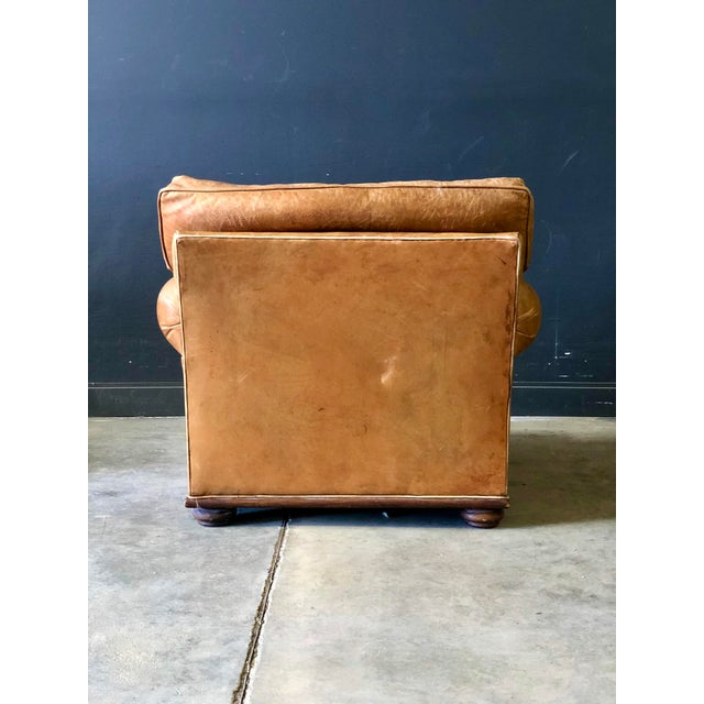 Vintage Ralph Lauren Camel Leather Chair For Sale In New York - Image 6 of 10