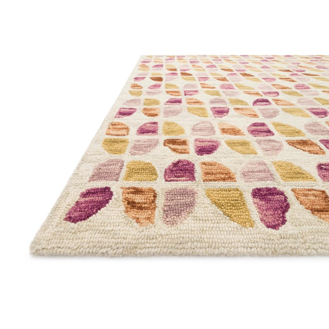 Designed by Justina Blakeney for Loloi Rugs , the Hallu Collection is hooked of 100% wool pile by artisans in India....