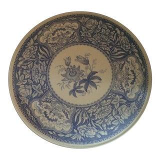 Vintage Blue & White Spode Floral Cake Plate For Sale