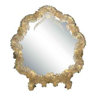 Venetian Murano Glass Table / Wall Mirror For Sale