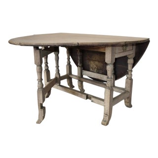 18th Century English Bleached Gateleg Breakfast Table For Sale