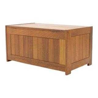 Teak Wood Blanket Box Chest by O Schjøll & b.k. Handest for Randers Denmark 1966 For Sale