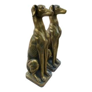 Gilt Terra-Cotta Greyhounds - a Pair For Sale