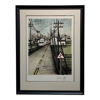 Bernard Buffet - French Street -Original 1961 Artist Proof Lithograph For Sale