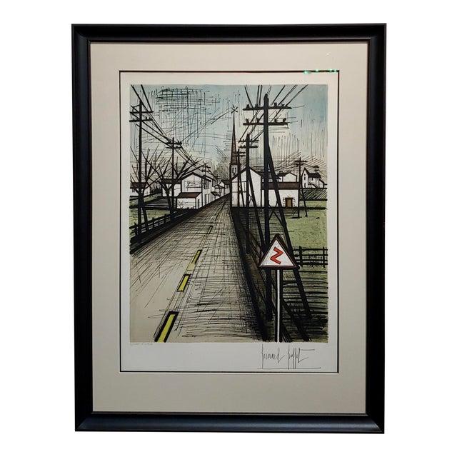 Bernard Buffet - French Street -Original 1961 Artist Proof Lithograph For Sale