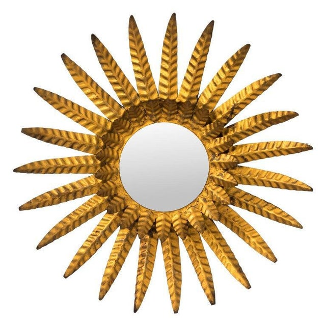 1920s Gilded Sunburst Mirror For Sale - Image 9 of 9