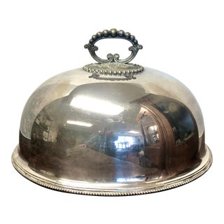 Early 20th Century Vintage London & Sheffield Silver Meat Dome For Sale