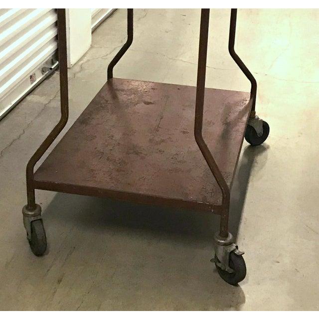 Vintage Industrial Wheeled Cart For Sale - Image 4 of 6