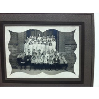 """Vintage """"School Children"""" Mounted Black & White Photograph Preview"""