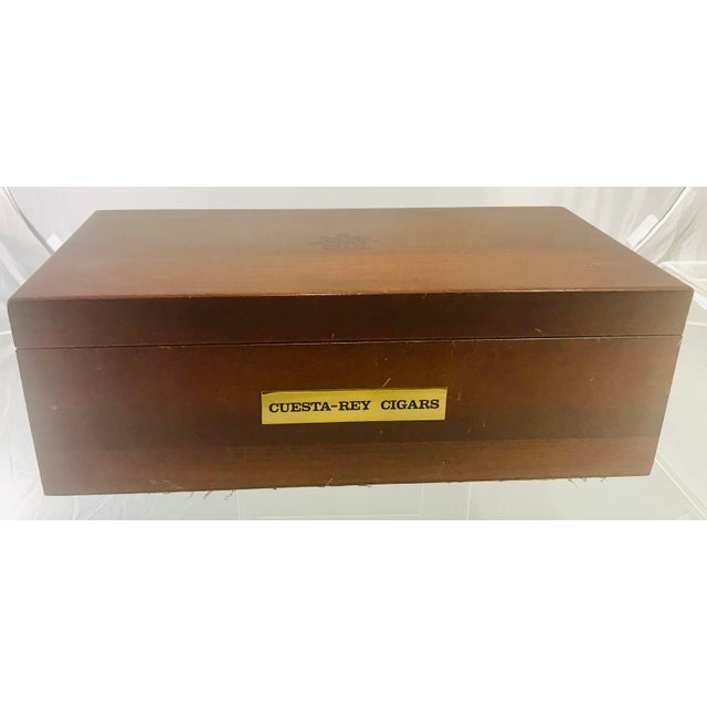 "Nice large 17.5"" L, 6"" H, 9.1"" W Cuesta Rey Humidor cigar box. Made in the 1980s."