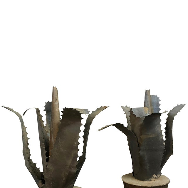 20th Century French Mid-Century Zinc Finials - a Pair For Sale - Image 4 of 5