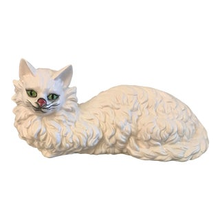 Vintage Japanese Ceramic Persian Cat For Sale