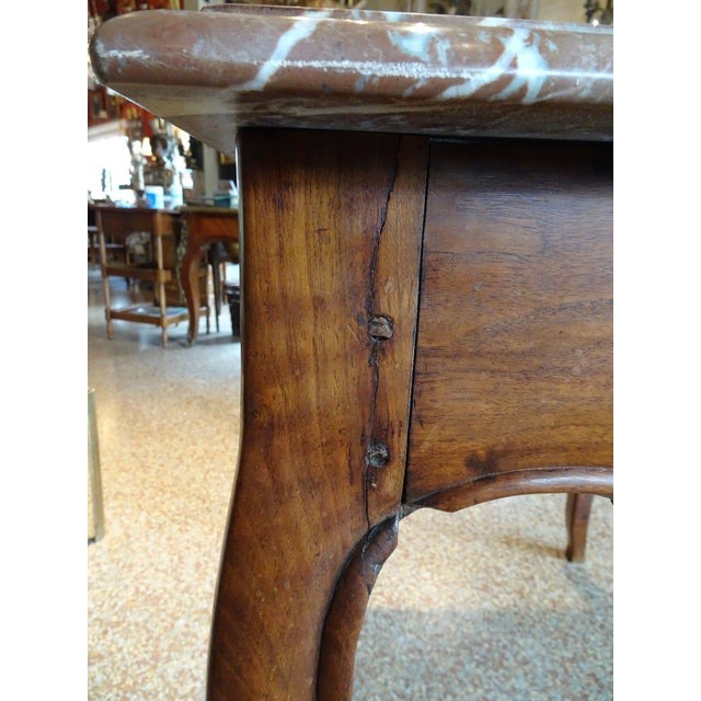 19th Century French Marble Top Table For Sale In New Orleans - Image 6 of 12