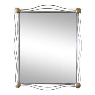1990s Modern Wrought Iron Wall Mirror For Sale