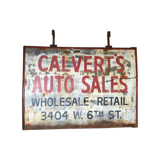 Vintage Auto Trade Sign - Image 1 of 11