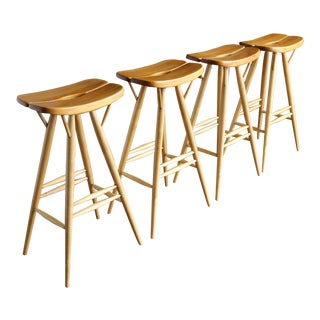 Ilmari Tapiovaara Stools - Set of 4 For Sale