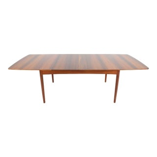 Rosewood and Teak Dining Table by Worts Mobler For Sale