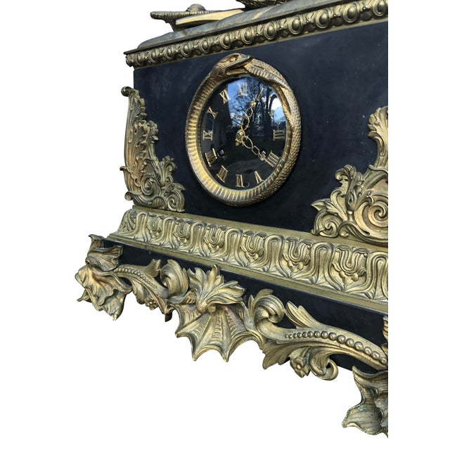 Figurative 18th Century Vincenti & Cue Pendulum Mantle Clock For Sale - Image 3 of 8