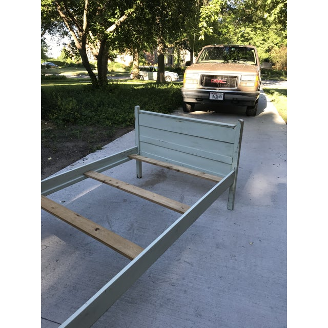 20th Century Americana Green Painted Twin Bed For Sale In Milwaukee - Image 6 of 10