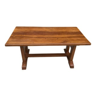 French Country Trestle Dining Table For Sale