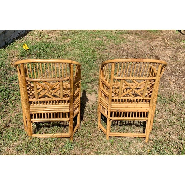 Antique Chinese Bamboo Chairs - A Pair For Sale In Kansas City - Image 6 of 13