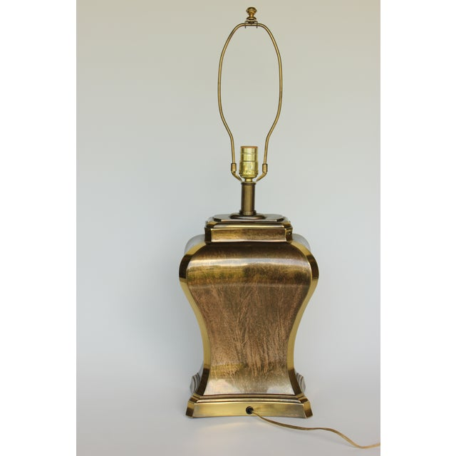 Etched Brass Ginger Jar Table Lamp For Image 4 Of 6