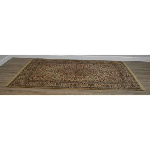 Traditional Karastan Tabriz Medallion Samovar Tea Wash 5'9 x 9' Rug For Sale - Image 3 of 12