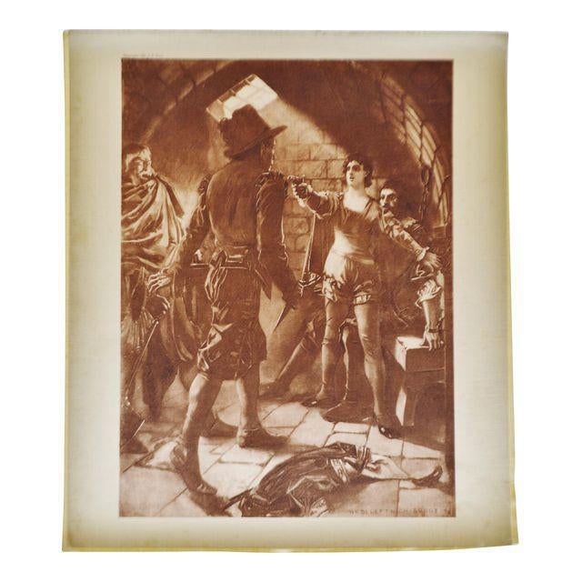 Gold 1899 Photogravure of William de Leftwich Dodge's Fidelio Opera Painting For Sale - Image 8 of 8