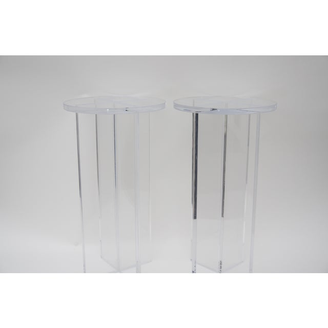 Custom Bespoke Lucite Side Tables - a Pair For Sale In West Palm - Image 6 of 8