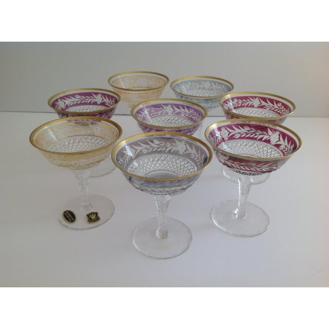Ebeling-Reuss Cut Crystal Coupe Champagne Glasses - Set of 8 - Image 5 of 7