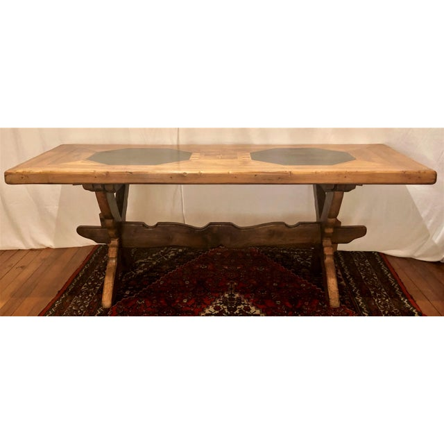 Antique French Provincial Farm Table From Pyrenees Woodlands, Circa 1910-1920. For Sale In New Orleans - Image 6 of 6