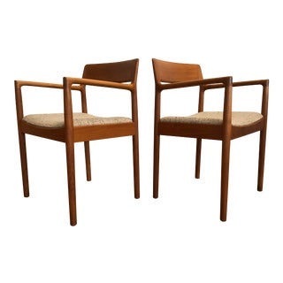 Mid-Century Norgaard Teak Arm Chairs, Made in Denmark, a Pair For Sale