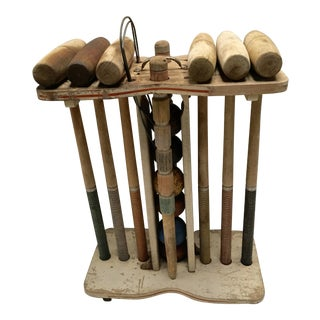 Vintage 1940s Croquet Set - 17 Pieces