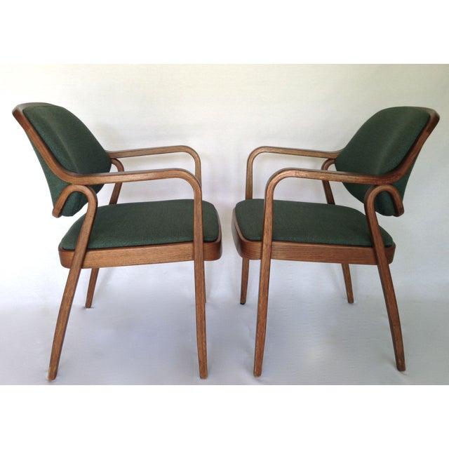 Knoll Bentwood Armchairs by Don Petitt- a Pair - Image 5 of 6