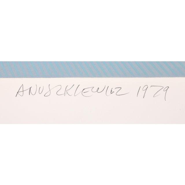 Artist: Richard Anuszkiewicz, American (1930 - ) Title: Winter Suite (Light Blue with Light Blue) Year: 1979 Medium:...