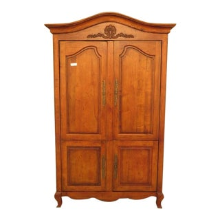Century Country French 4 Door Bedroom Armoire Cupboard For Sale
