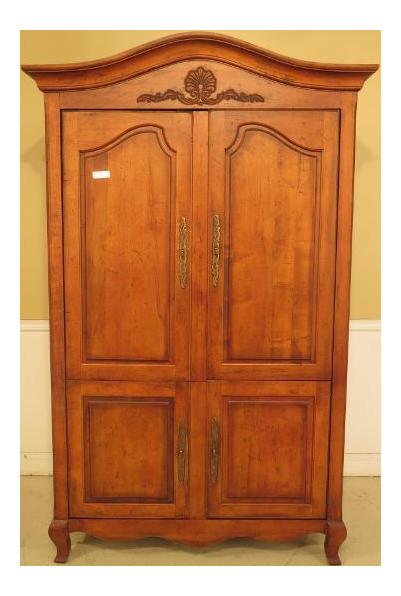 Century Country French 4 Door Bedroom Armoire Cupboard