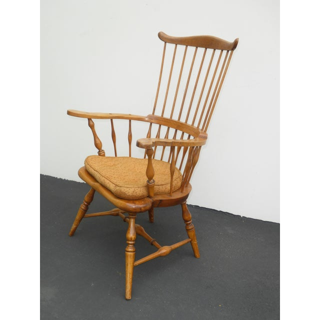Farmhouse Jean of Topanga Vintage High Banister Windsor Chair Farmhouse Chic For Sale - Image 3 of 11
