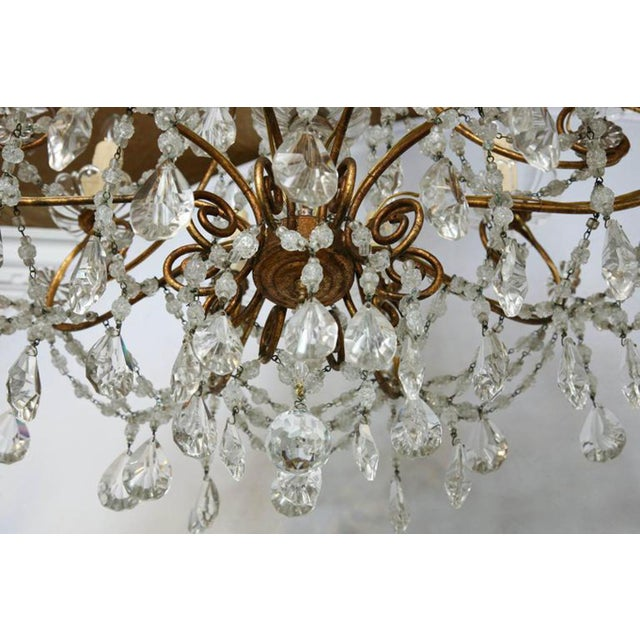 Unusual Ten-Light Gilded Iron Italian Chandelier, Early 20th Century For Sale - Image 9 of 10