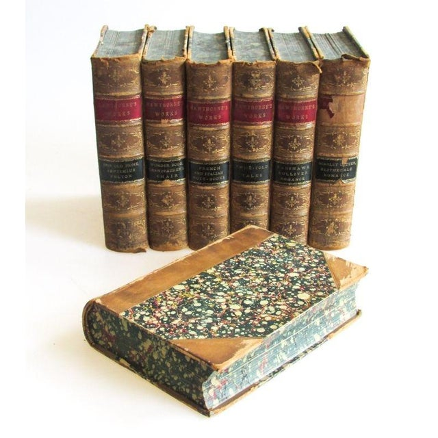 1880 the Works of Nathaniel Hawthorne Published Boston - 7 Volumes For Sale - Image 9 of 9