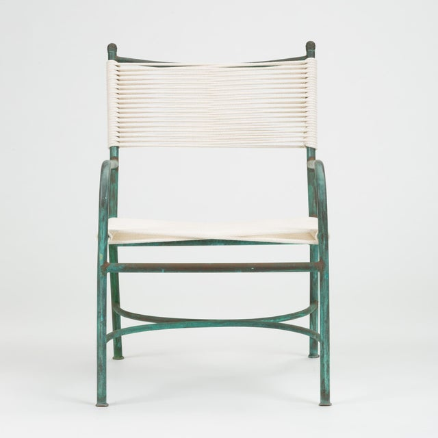 Mid-Century Modern Robert Lewis Bronze Patio Lounge Chair For Sale - Image 3 of 13